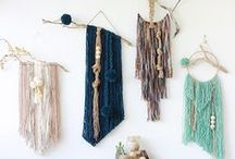 DIY | Textiles / Textile inspiration including weaving, felting, rugmaking, tapestry, and other fibre projects