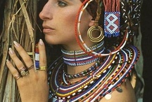 Even More Tribal Jewelry, Stones And Beads / Tribal Jewelry Designs With Semi Precious Stones, Silver And Gold.  / by Lula