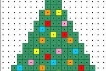 Kerst Kralenplanken/Strijkkralen