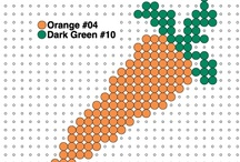Groente Kralenplanken/Strijkkralen