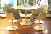 Saarinen Tables / The classic tulip, round or oval marble topped table. My favourite!