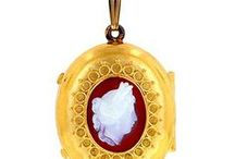 Locket Love / Make it personal with an antique locket. Include a photo, a monogram, or a love note.