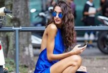 Fashion: BLUE / A fashion board for women inspired by the cool color of blue.