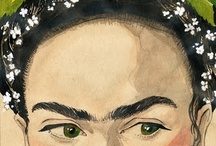 Frida Kahlo / It's all about Frida Kahlo, frida kahlo, mexican, artist, art, woman, paintings, inspiration, google / by Tanja Heikkilä