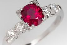 Ruby Engagement Rings / Ruby Engagement Rings are a striking choice for the bride to be that wants to have something different than the traditional diamond engagement ring. / by EraGem