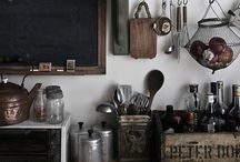design inspiration: cook and eat / kitchens, dining rooms, and eating areas with vintage decor.  decorating and styling inspiration.