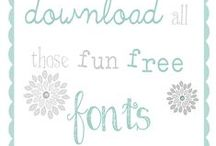 DIGI-TOOLS: FONTS / digital fonts, dingbats, and flourishes, etc. - all free at time of pin ~ if any are not fonts, please comment on the pin, so that I can move them to the typography board... Thanks! :) / by Inspired By