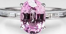 Pink Sapphire Engagement Rings / Durable and beautiful, sapphire is a great choice for an alternative diamond ring and the color pink is so feminine.