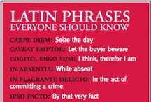 SPEAK: Salve / Learn Latin...  / by Inspired by Many...