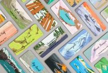 Rock Paper Ink 'Take the Edge Off' / #TaketheEdgeOff is a series featuring designers using MOO MiniCards with rounded corners as the canvas for their artwork. Some have taken a literal approach to 'take the edge off' by representing ways that they relax, whilst others have used Printfinity (a snazzy way to use multiple designs in one pack of cards) and those stylish round corners to show off their portfolio. / by MOO