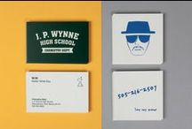 Double Life Business Cards / Our design team have had plenty of fun dreaming up designs for a handful of their favorite fictional characters. From Dr Jekyll and the villainous Mr Hyde to Breaking Bad's Walter White and his clandestine alias Heisenberg, the MOO Crew have really gone to town creating Business Cards for these characters' daytime jobs and standout Square Business Cards for their night-time secret identities. See the whole collection! / by MOO
