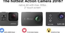 Action Cameras / Action Cameras from different brands: GoPro, Xiaomi YI Action Camera, SJCAM, Sony, GitUp,...