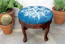 territory: footstools and ottomans / footstools and ottomans we have for sale. upcycled home decor.  reupholstered items.