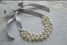 """Harley Mae / """"the perfect touch for a gorgeous wedding"""" All handmade and fully customizable ribbon jewelry. Perfect for bridesmaids, flower girls, and especially brides.  / by Jennifer Northcutt"""