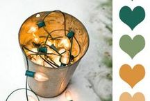 { Holiday Color } / Engaging Holiday color palette's created for my clients to help them during the planning stages of their design project. All images found on the web or Pinterest, not claiming as my own.