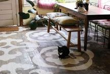 painted floor ideas / by Susan Lowery