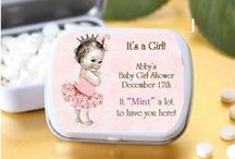 Personalized Baby Shower Favors! / Favors of all kinds perfect for any theme but with a personal flair! You choose the design and the text and we'll deliver the perfect favor!