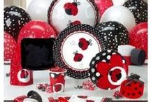 """Lady Bug Baby Shower / Adorable Baby shower all about the """"Little Love Bug"""" arriving! From decor, to games and favors, we've collected everything for this beautiful theme."""