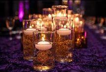 Fall Purple & Gold Wedding