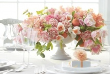 Compote Centerpieces / Floral designs created in compote containers are quite lovely and a beautiful garden style arrangement.