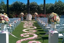 WEDDINGS - Ceremonies / Beautiful floral treatments of wedding ceremony spaces.