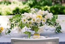 White Flower Arrangements / Inspirational all white and ivory floral designs for weddings and events.