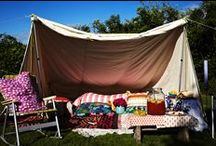 Go outside / Camping outdoors backyard picnic bike