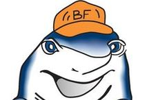 FUN with FISH / Most people like our logo, especially kids who will touch our trucks and signs. The FISH is original art, Jonathan's mother, Teresa drew freehand in colored pencil when we started the company. / by BuilderFish