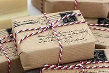 Packaging / Packaging, giftwrap, anything used to make a present or product look nice! Also tags, hand painted or printed, inspiration for the perfect gift.  Ribbons, accessories, plain or patterned. Japanese washi, Liberty, DIY or purchased...