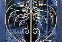 Wrought iron / Anything made with wrought iron - gates, bird cages ....