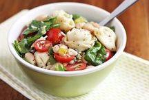 Sexy Salads / Featuring fruit salads, pasta salads, veggie salads, bread salads, picnic salads, cookout salads and steakhouse salads. Get fresh! / by Ezra Pound Cake (Rebecca Crump)