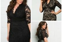 Plus Size Style:  Lace / Forget the lace you've see on your grandmother's doilies, we're fans of feminine lace transformed into sexy silhouettes. Revel in soft stretch lace dresses that hug your curves or swingy Mad Men inspired silhouettes. #plussize #kiyonna