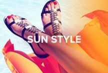 Sun Style / Perfect summer style with the ultimate warm weather staples.  Shop the look at www.jimmychoo.com