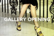 Gallery Opening / Hit the city social circuit in archetypal pointy-toe pumps and their must-have carryall companions. #TheSeason
