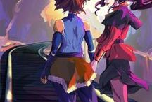 Fan Art / SHIPS: Zuko+Katara, Aang+Katara, Korra+Asami, Tonks+Lupin, Draco+Harry, Harry+Ginny, Ginny+Luna