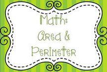 Math:  Area and Perimeter / Ideas for teaching area and perimeter