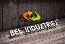 Bel Industries Belgium / Voorbeeld van gebruik logo in diverse settings