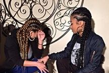 We Go Back Like Corn Rows! / This is our photoshoot Concept.. Hair Nails Face