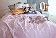 sleeping. / ~ everything in a bedroom should contribute to an atmosphere of peace ~ Billy Baldwin.