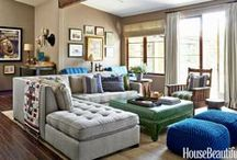 Living rooms / Living room and family room inspiration.