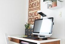 home // office / Inspiration for decorating my office and work space.
