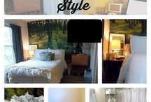 Dorm Room/ College Apartment Ideas / Dorm room and college apartment inspiration and organization.