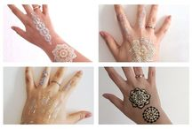 Temporary Metallic Sticker Tattoos. / Flash Glam Boho Gypsy Metallic Sticker Tattoos.