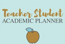 Teacher Student Academic Planner / teacher academis school planner printables free stickers template student organization college high school study notes