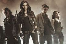 The Mortal Instruments / Shadowhunters / A book series by Cassandra Clare that is turned into a movie and a tv series