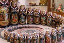 Matryoshka / Wooden Russian stacking dolls
