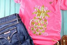 DIY T-shirt Ideas with Cricut / Awesome ideas for DIY custom graphic tshirts! Whether you have a Cricut already, or even if you don't yet - you're gonna LOVE these!