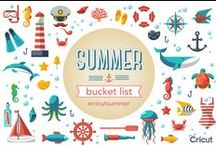 Cricut's Summer Bucket List / Have fun with us all summer long with lots of prizes, projects, and boredom busting ideas! Check back each Monday for a new theme and chance to enter our weekly giveaway!