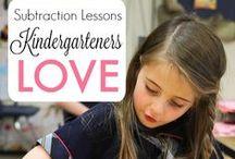 Subtraction in Kindergarten / Engaging subtraction games, activities, strategies, and anchor charts for building the concept subtraction in a Kindergarten classroom.