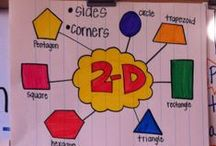 Shapes in Kindergarten / Engaging 2D and 3D shape games, activities, strategies, and anchor charts for building the concept shapes in a Kindergarten classroom.